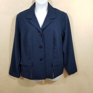 Sag Harbor Navy Suit Jacket - Plus Size 22W